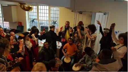 Drumming circle party